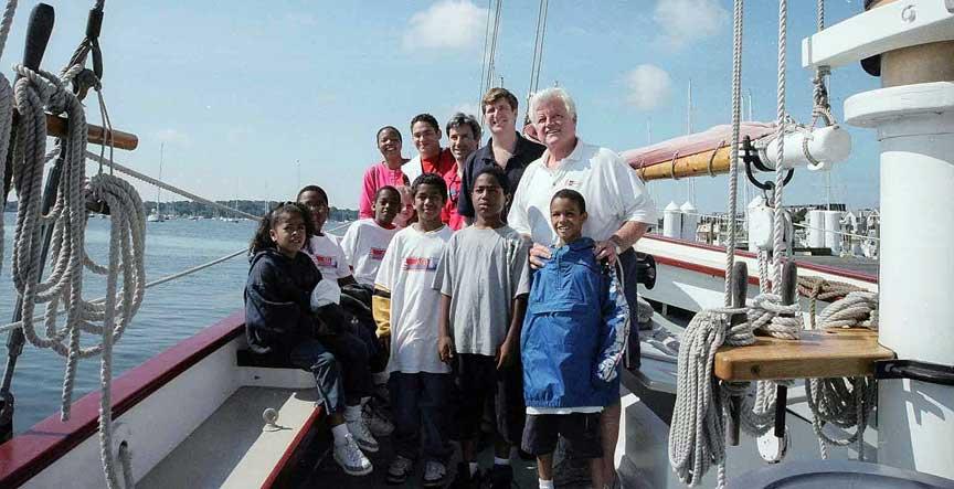 Senator Kennedy - Martin Luther King Center Sail 2004