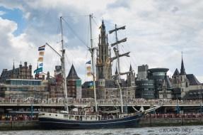 Dutch Barquentine Thalassa, Antwerp Tall Ships Race 2010