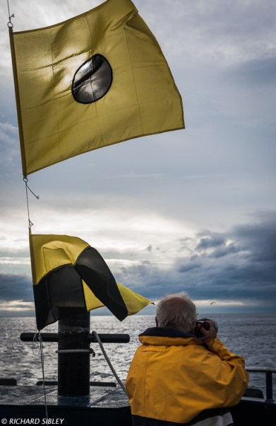 Photographers on the foredeck