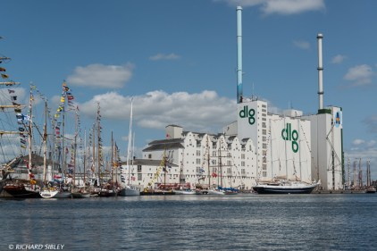 """Silos known as the """"Five Sisters"""" Port of Aarhus"""