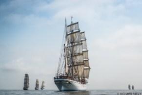 Dutch Clipper Brig Morgenster, British Barque Tenacious, Mexican Barque Cuauhtemoc, Norwegian Barque Statsraad Lehmkuhl, Omani Barquentine Shabab Oman and Swedish Brig Trekronor