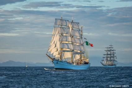 Mexican Barque, Cuauhtemoc And Brazillian Full Rigger Cisne Branco