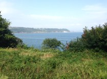 Looking over Plymouth Sound from above Cawsand
