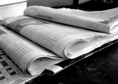newspapers above the fold seafoam
