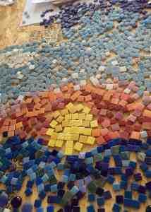 Mosaic Tiles Heads Will Bowl Maplewood Seafoam Media