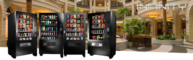 Seaga's Infinity line of glass front vending machines are the most flexible solutions on the market for any location.