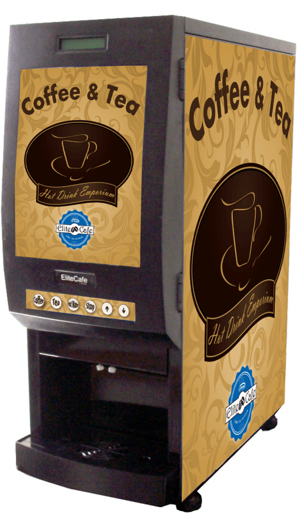EC200 is an elite beverage dispensing machine that is an excellent choice when vending coffee and tea for consumers that are on the go