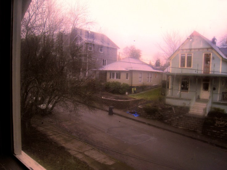 rainy day, my street