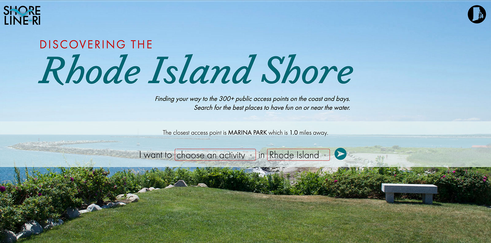 Discovering The Rhode Island Shore Web App