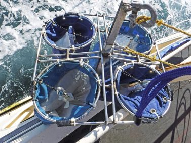 Equipment on side of boat