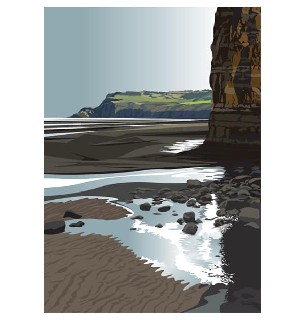 To Ravenscar from Boggle Hole - Portrait