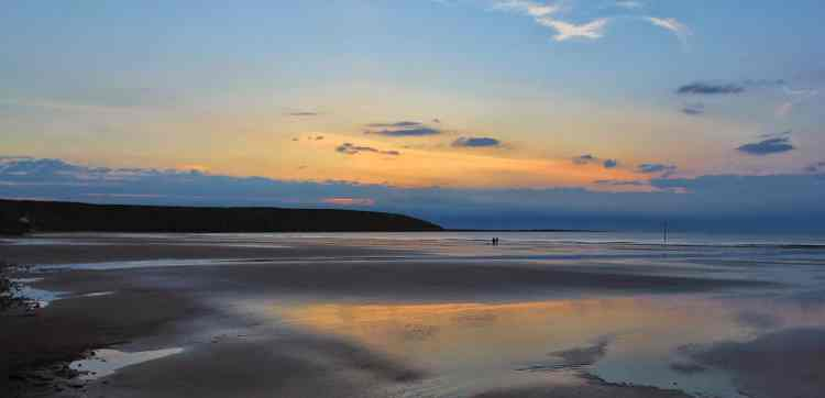 Filey Brigg, Breaking Dawn - Large Landscape