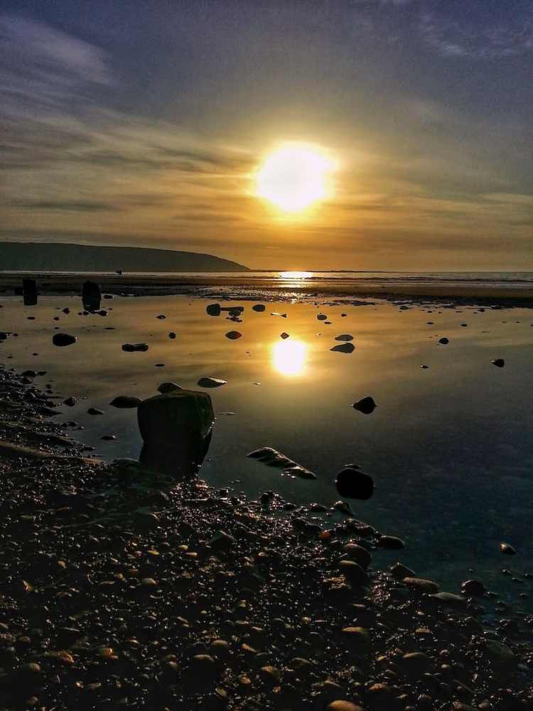 Filey Beach Sunrise 2 - Portrait