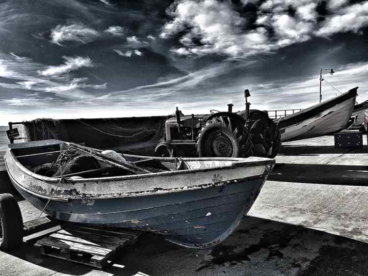 Filey Coble Landing, End Of The Day - Landscape
