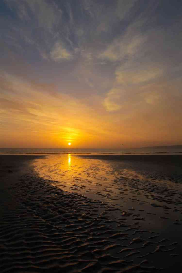 Filey Beach Sunrise 46 - Portrait