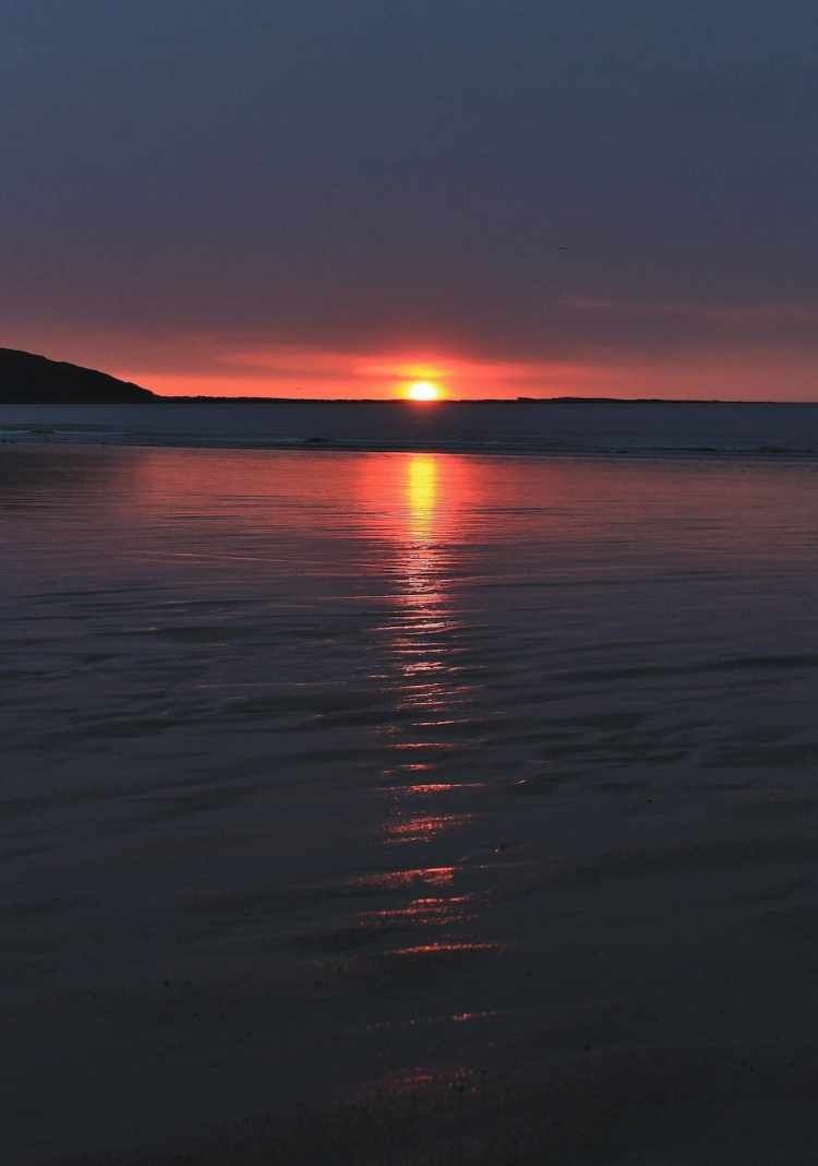 Filey Beach Ruby Sunrise - Portrait