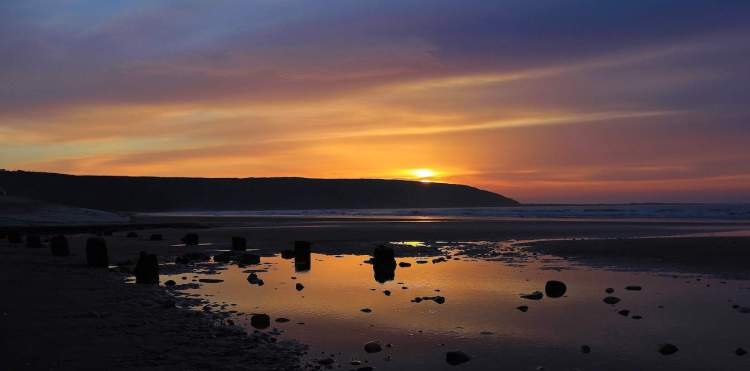 Filey Beach Sunrise - Large Landscape