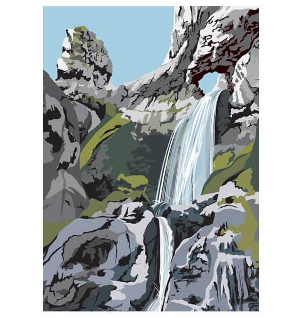 Gordale Scar Waterfall - Portrait