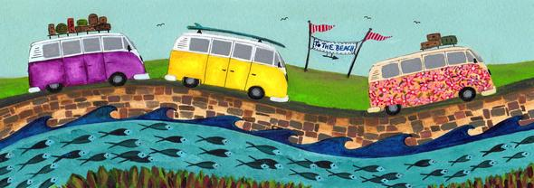 TO THE BEACH - Limited Edition Print