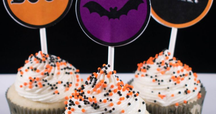 Halloween Printable Cupcake Toppers!