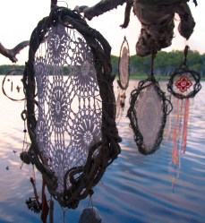 Sea Gypsy Treasure Natural Dreamcatchers hanging from a tree