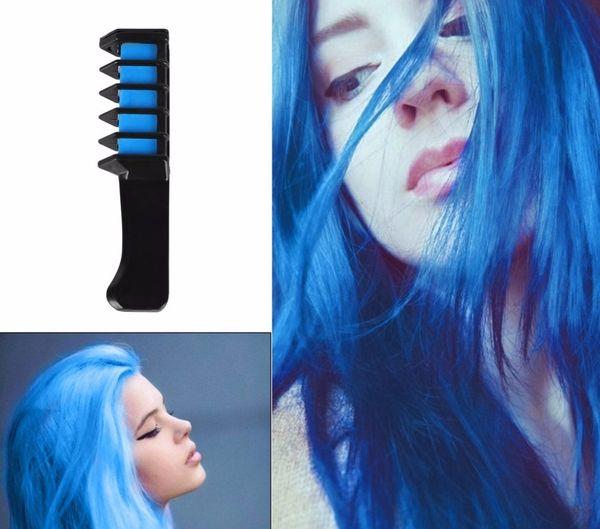 Blå grunt hår
