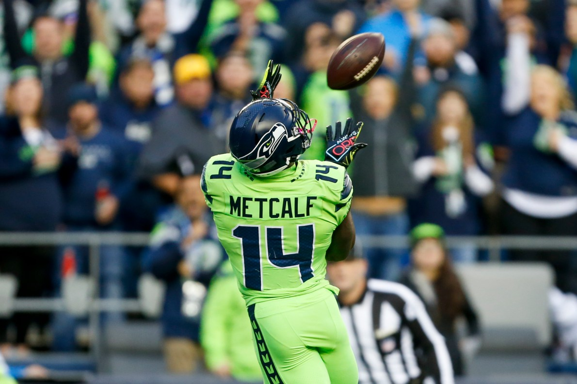 Russell Wilson wants to get the ball to DK Metcalf more