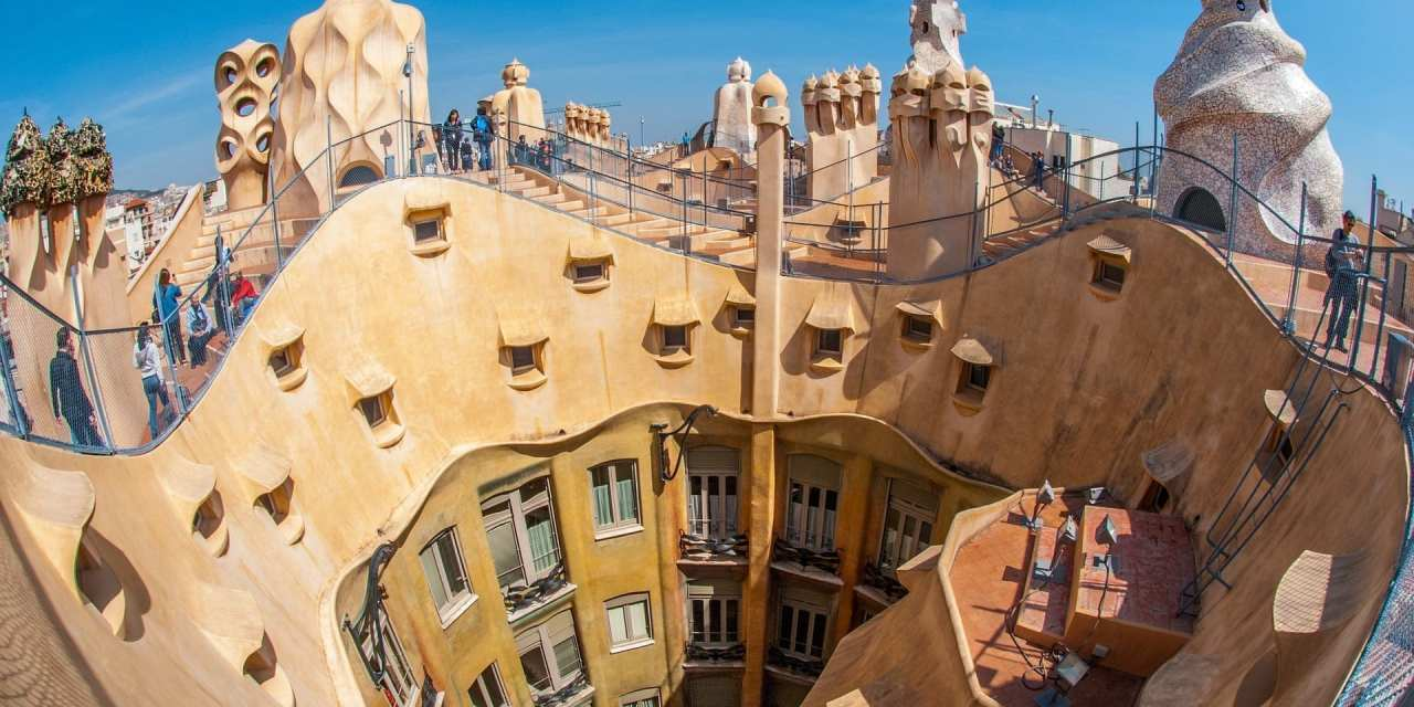 La Pedrera in Barcelona driving to Girona, Spain