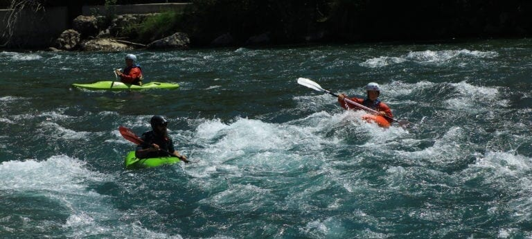 The Geology of the Pyrenees, Kayaking for 2, and Rainwater versus Snow Melt, Ainsa, Spain