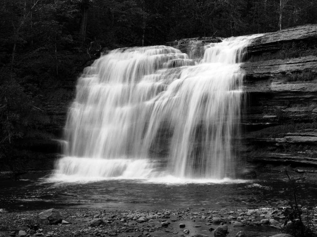 Photograph of Pixley Falls, NY by Jake K. Siders, 13, homeschooled in CA. He won 1st place and People's choice in TriValley Conservancy Freeze Frame photo contest this summer with a different photo.