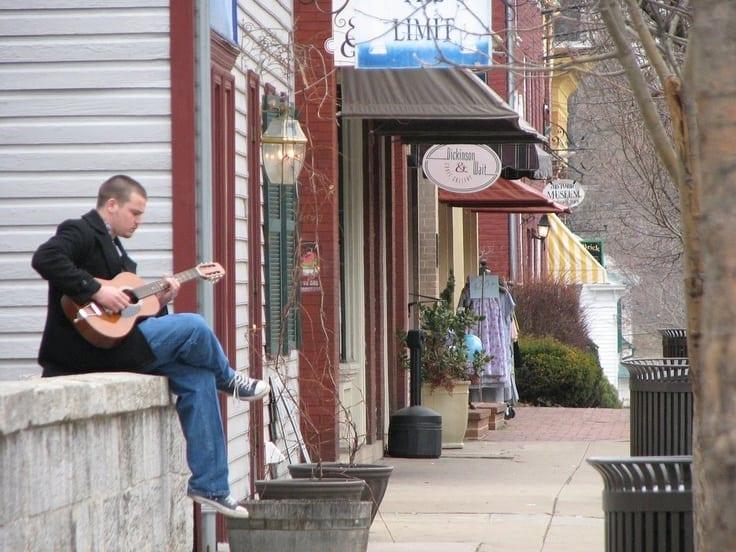Guy Playing Guitar