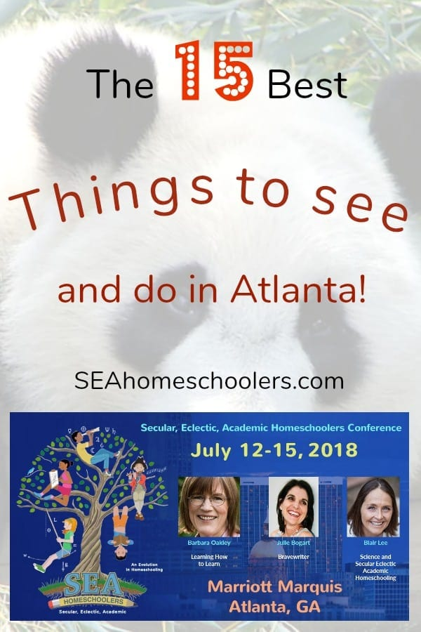 Things to do and see in Atlanta, 2018 Secular Homeschool Convention, SEAhomeschoolers.com