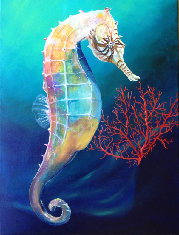 Acrylic Painting Seahorse
