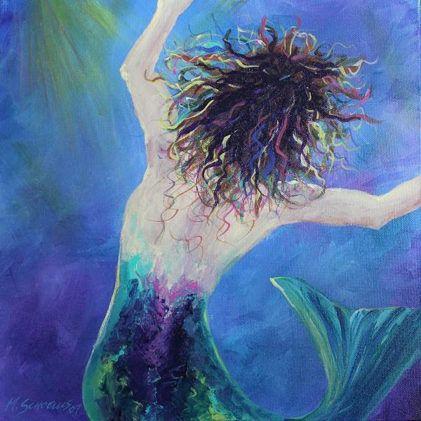 Swimming Light Mermaid Series Seahorse