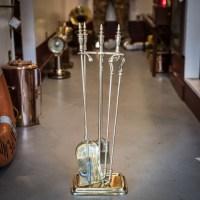 Solid Brass Captain's Fireplace Essentials - SeaJunk