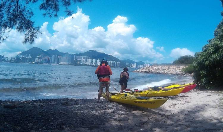North Lamma Island sea kayaking