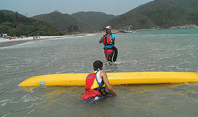 capsizing a kayak
