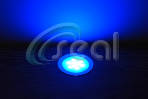 3 x Slimline Floor Lights – Blue