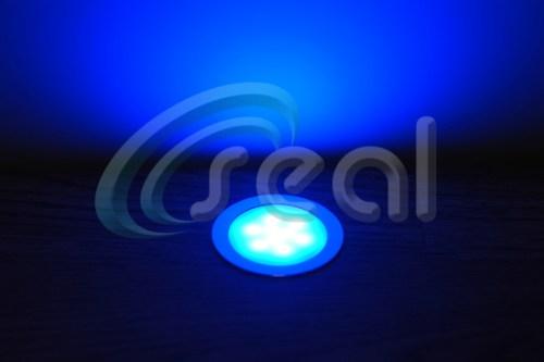 3 x Slimline Floor Lights – Blue