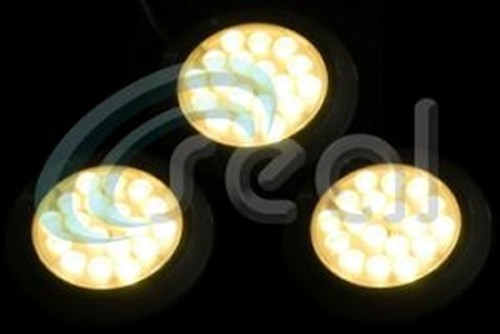 3 x 65mm Round LED – Warm White