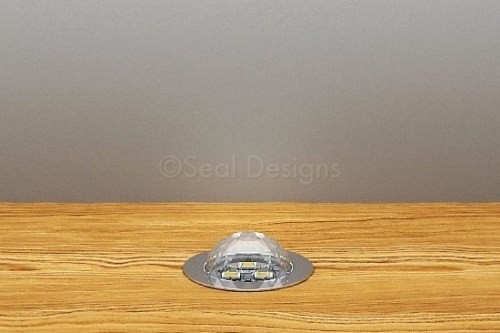 10 x 30mm Crystal Dome Kit – Blue – Stainless Steel Bezel