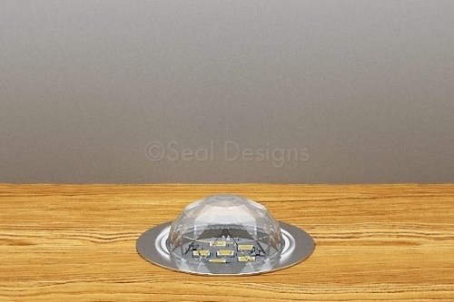 10 x 45mm Crystal Dome Kit – Blue – Stainless Steel Bezel