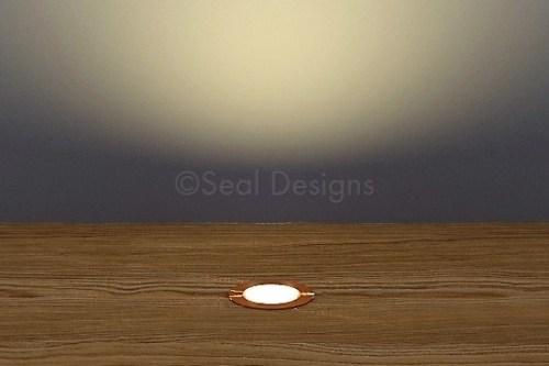 10 x 18mm Kit – Warm White Copper Round Bezel