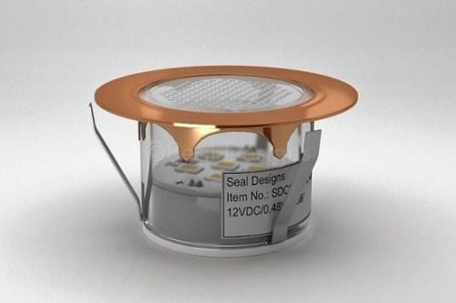 1 x 45mm LED Light Fitting Copper & Round Bezel