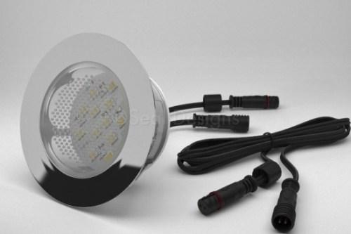1 x 60mm Easy Change LED Light Fitting Stainless Steel Round Bezel