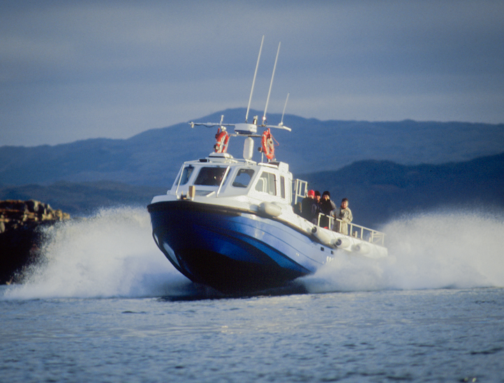 Excellent stability and safety on our boat trips near Oban