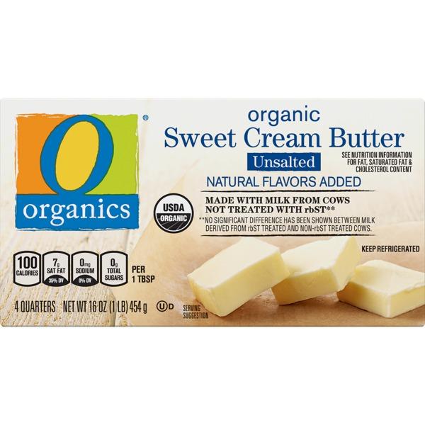 O Organics Butter, Sweet Cream, Organic, Salted