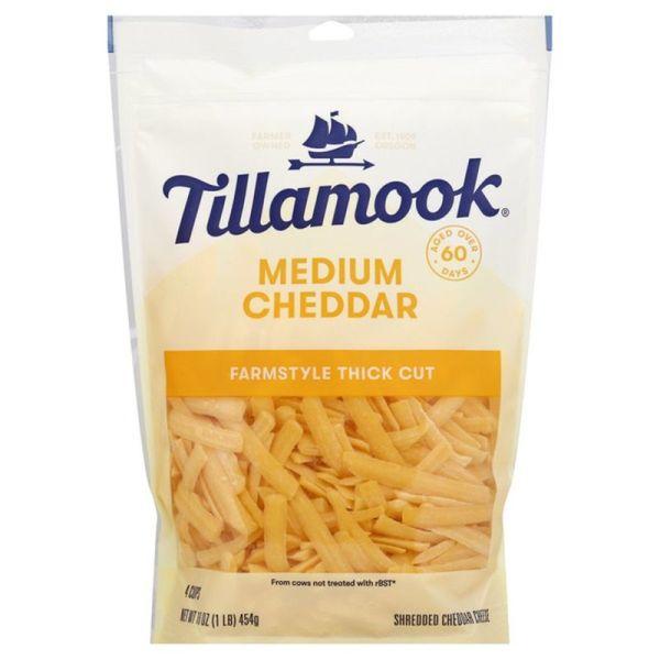 Tillamook Cheese, Medium Cheddar, Farmstyle, Thick Cut