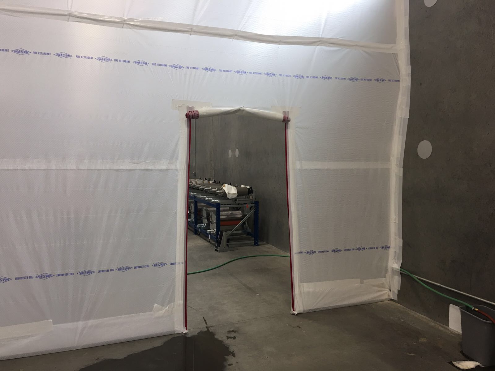 Temporary Interior Walls