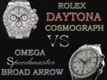 Comparative Review of the Rolex Cosmograph Daytona Reference 116520 VS. The Omega Speedmaster Broad Arrow Model 3551.20.00